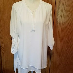 Outback Red sz Large,  white blouse
